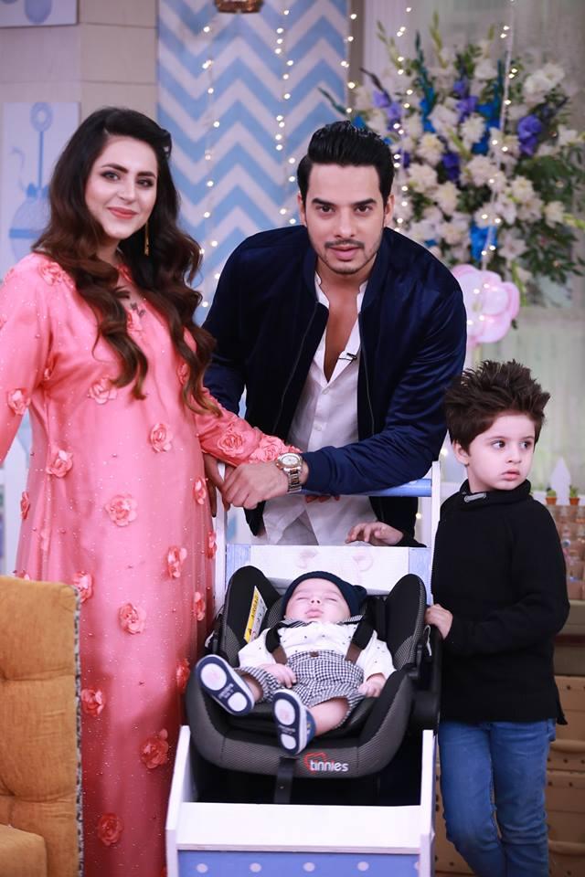 Fatima Effendi Amp Arslan Kanwar New Born Baby Celebration In Nida Yasir Show Pakistani Drama