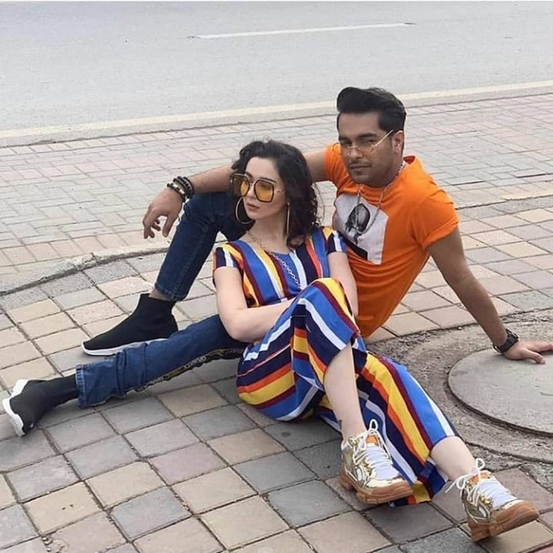 Latest Photoshoot Of Asim Azhar And Hania Amir Pakistani