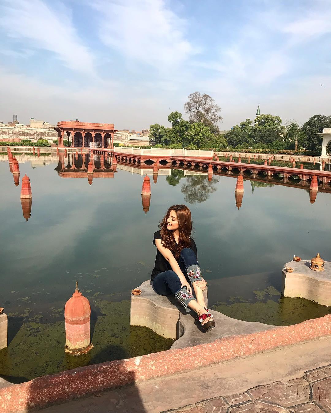 Beautiful Alizeh Shah At Shalamar Garden Lahore Pakistani Drama Celebrities