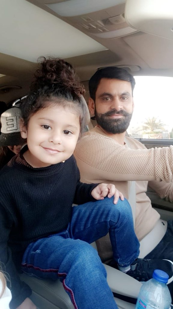 Beautiful Clicks Of Cricketer Muhammad Hafeez With His