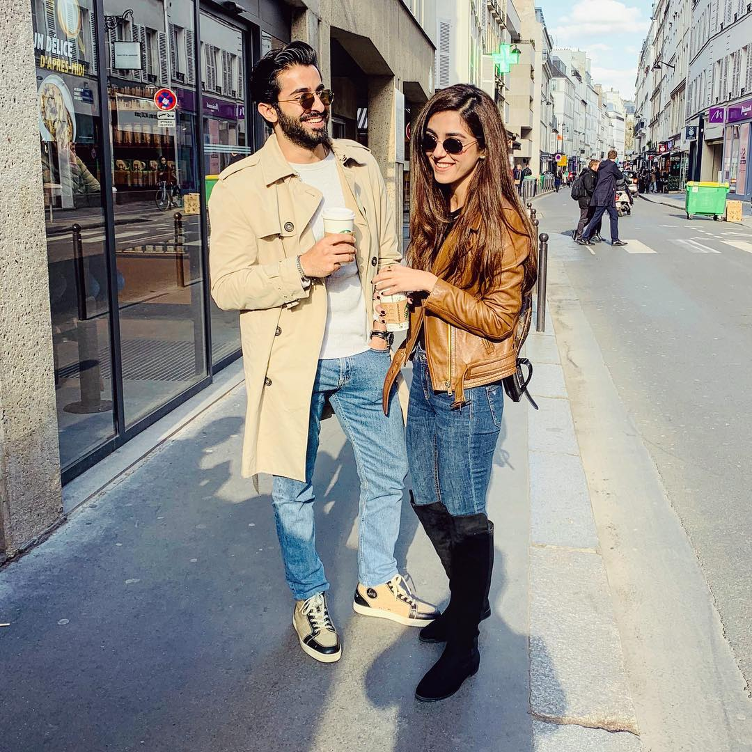 Latest Clicks Of Maya Ali And Shehryar Munawar In Paris