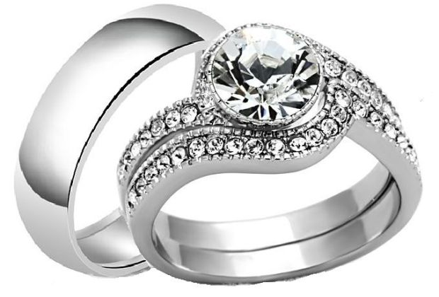 5 most expensive wedding rings you can buy on jumia fashion unlock spiral elegance non fade titanium wedding ring set 3 in 1 junglespirit Gallery