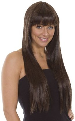 hair with bangs Brunette
