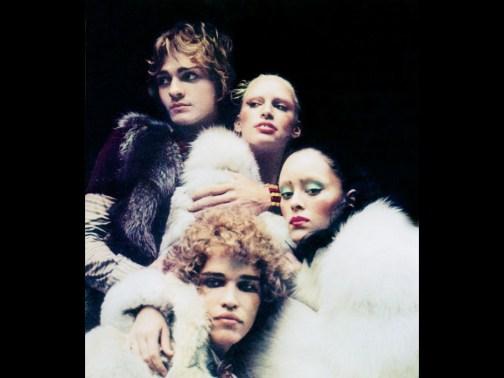 Corey Tippin, Donna Jordan, Jane Forth y Jay Johnson, Paris, 1971 (Foto sexfashiondisco.com)