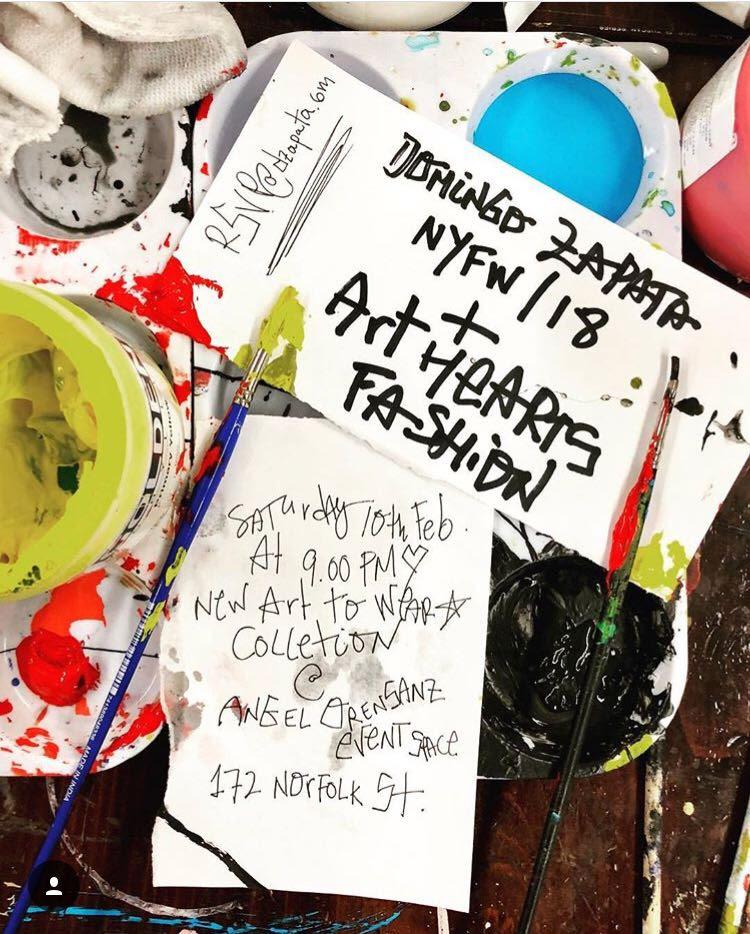 Domingo Zapata, presenta su arte en la New York Fashion Week