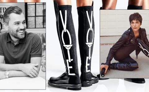Selma Blair hace un llamado al voto con icónicas botas Stuart Weitzman