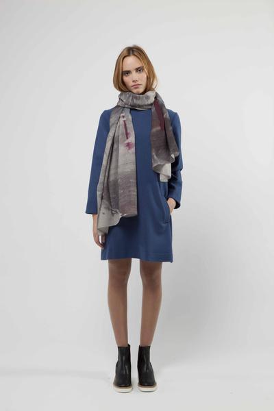 Julia Wool Shift Dress £399 & Liminal Scarf £210