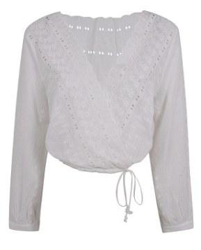 White Ballet Tie Top £38