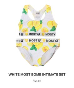 Lemonade Anniversary Merch Bomb Underwear