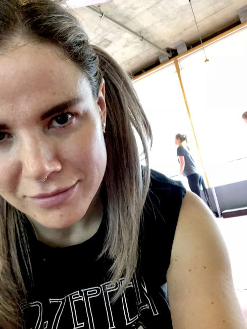 A picture of Pixie Tenenbaum straight after an open Barre class at The Barre Workout in Newcastle