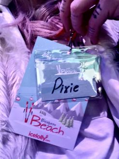 Blog at the Beach with icelolly.com Fashion Voyeur Blog picture of lanyard displaying the name pixie