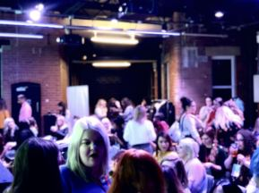 Blog at the Beach with icelolly.com Fashion Voyeur Blog Crowd shot at Duke Street Studios Leeds