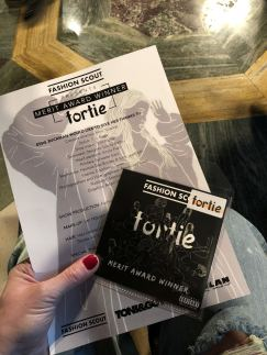 A picture of the Fortie Label FW18 show invite for London Fashion Week