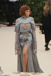 Zendaya wears chainmail in a nod to Joan of Arc at the Heavenly Bodies Met Gala 2018