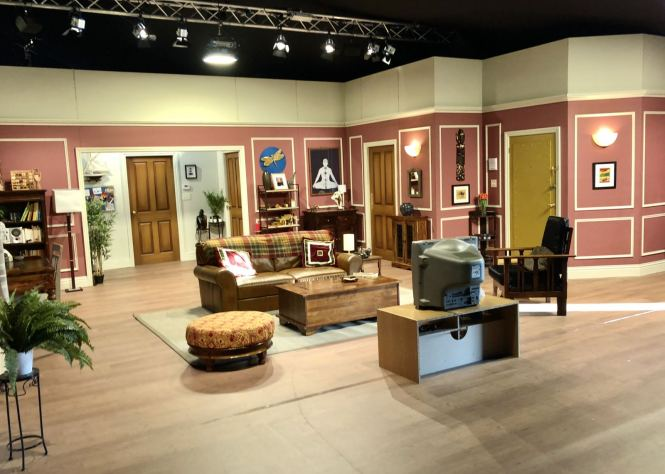 Comedy Central UK's Friends Fest 2018: Wide angle shot of Ross Geller's apartment set