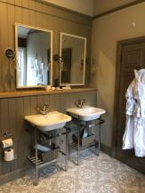 Jack & Jill sinks Muckle Hoose Suite Beadnell Towers Hotel Fashion Voyeur Blog