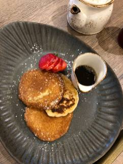 Beadnell Towers Hotel Breakfast American Style Pancakes