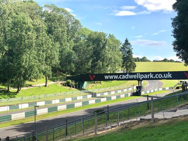 The overcircuit bridge at Cadwell Park Race Track