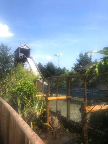 The log flume ride at Wicksteed Park taken on a very sunny day