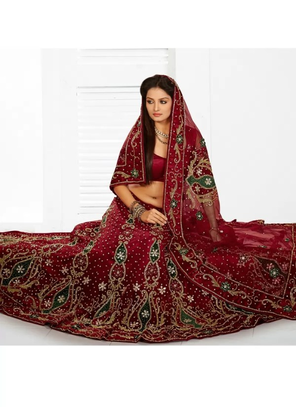 2b198776df Red And Gold Bridal Lehenga With Zardozi Work Twirling - Year of ...