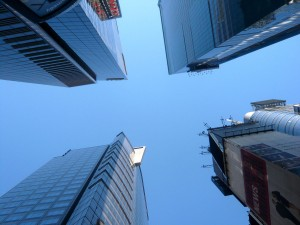 Skyscrapers at Times Square