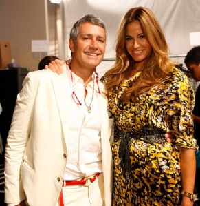 Carlos Souza and Kelly Bensimon