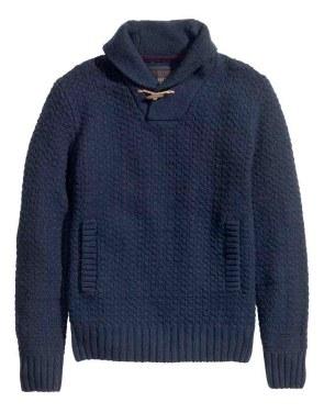 HM Blue knit sweater_$49.95