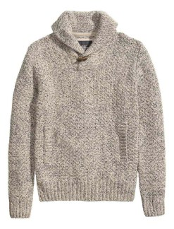 HM Grey knit sweater_$49.95
