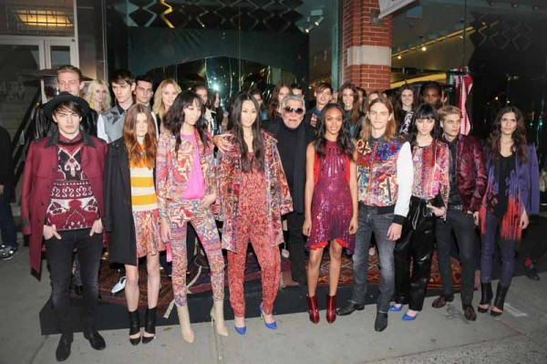 Robert Cavalli with Just Cavalli models