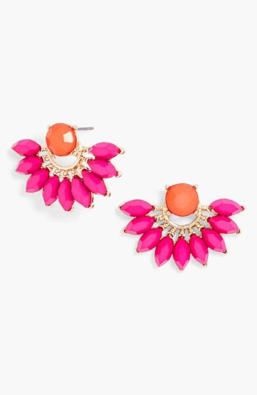 Peacock Mixed Stone Fan Studs_$28_Item 346910
