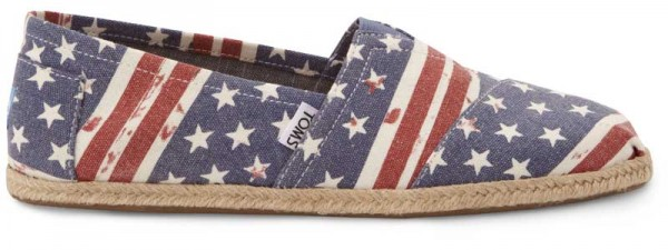 Toms Shoes American Flag
