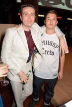 Nick Grimshaw (L) and Rafferty Law