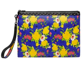 Blume Paradiso Flower Pouch Blue w Black Trim