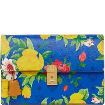 Blume Paradso Flower Shoulder Clutch Blue 1