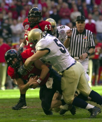 College football Texas Tech and US Naval Academy - Photo by USNA
