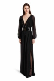 The dramatic glamour and wearability of this floor sweeping dress make it the ultimate evening statement maker. Add the waist-accentuating belt for a refined silhouette. LOOK 24 Maxi Dress in Black Swiss Dot, $79.99** Croc Effect Belt in Black, $29.99** Ankle Strap Shoe in Black, $39.99* *TARGET.COM EXCLUSIVE ** AVAILABLE GLOBALLY ON NET-A-PORTER.COM