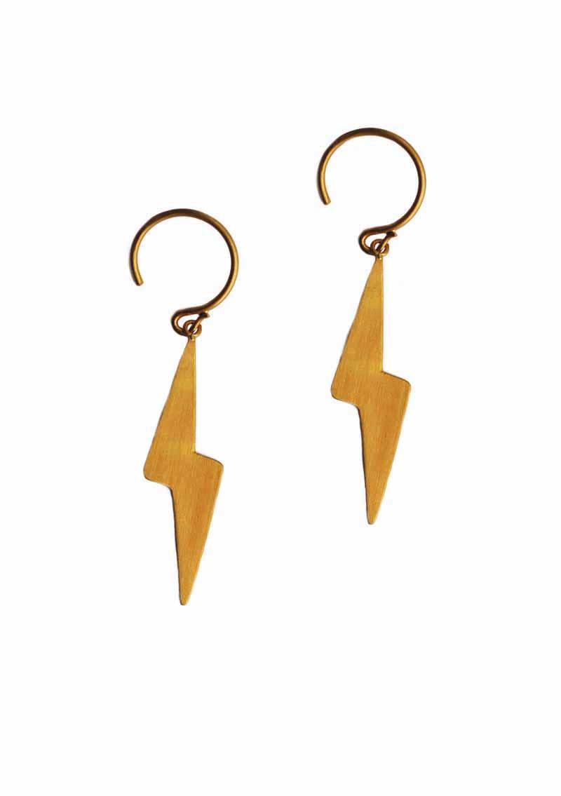 ILU1223 Boucles d'oreilles Coup de Foudre Sequins d