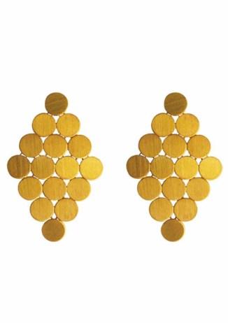 ILU1238 Swinging 60's gold earrings light