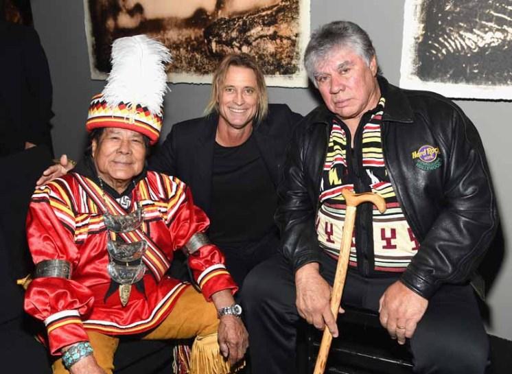Spirtual Leader, Seminole Tribe of Florida, Bobby Henry, Chairman, Seminole Tribe of Florida, Chief James E. Billie and Photographer Russell James (C) speak at Seminole Spirit Pres