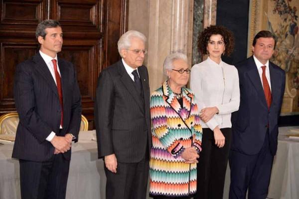 Riccardo M.Monti -Sergio Mattarella-Rosita Missoni Jelmini-Luisa Todini-Carlo Calenda.