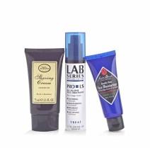The Art of Shaving Shaving Cream-$16, Las Series Face Treatment-$30, Jack Black Moisturizer-$17.50
