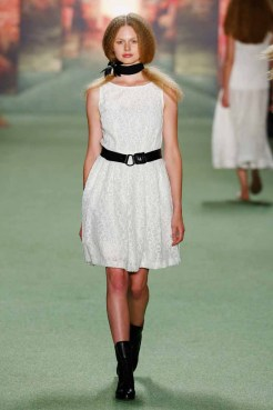 BERLIN, GERMANY - JULY 07: A model walks the runway at the Marc Cain show during the Mercedes-Benz Fashion Week Berlin Spring/Summer 2016 at Brandenburg Gate on July 7, 2015 in Berlin, Germany. (Photo by Peter Michael Dills/Getty Images for IMG)