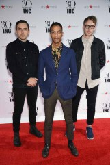NEW YORK, NY - SEPTEMBER 10: (L-R) Brandon Black, Mo Kheir and Joe Pascoe of No Wyld attend Heidi Klum + Gabriel Aubry's celebration of the launch of INC's 30th Anniversary Collection at IAC Building on September 10, 2015 in New York City. (Photo by Dimitrios Kambouris/Getty Images for Heidi Klum)