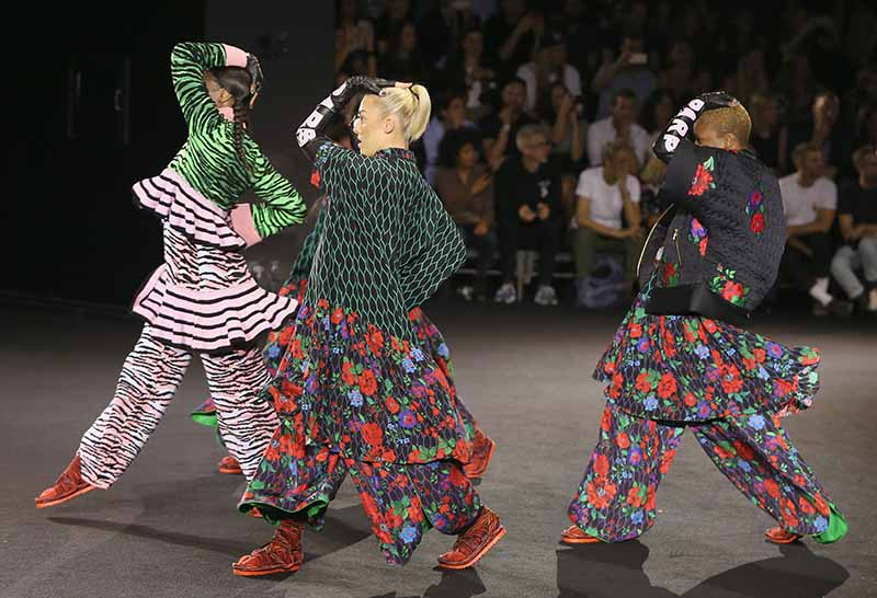 NEW YORK, NY - OCTOBER 19: Models walk the runway at the KENZO x H&M Launch Event Directed By Jean-Paul Goude' at Pier 36 on October 19, 2016 in New York City. (Photo by Thomas Concordia/Getty Images for H&M)