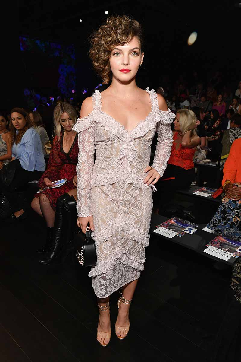 NEW YORK, NY - SEPTEMBER 07: Actress Camren Bicondova attends the Tadashi Shoji fashion show during New York Fashion Week: The Shows at Gallery 1, Skylight Clarkson Sq on September 7, 2017 in New York City. (Photo by Dia Dipasupil/Getty Images For Tadashi Shoji)