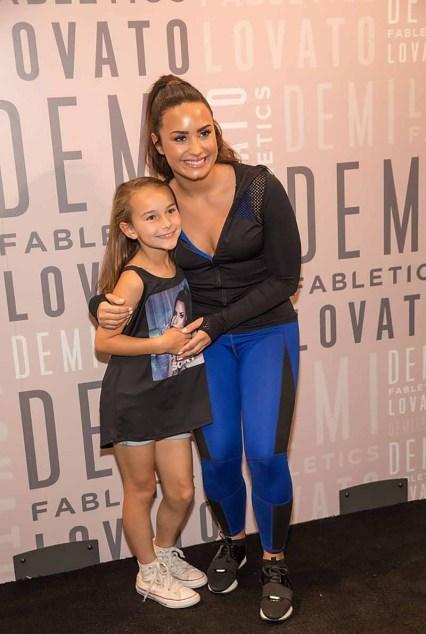Demi Lovato at Fabletics (1)