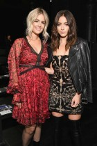 NEW YORK, NY - SEPTEMBER 07: Sonia Young and actress Chloe Bennet attend the Tadashi Shoji fashion show during New York Fashion Week: The Shows at Gallery 1, Skylight Clarkson Sq on September 7, 2017 in New York City. (Photo by Dia Dipasupil/Getty Images For Tadashi Shoji)