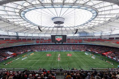VANCOUVER, BC - MARCH 11: A general view of atmosphere during the 2018 Canada Sevens Rugby Tournament at BC Place on March 11, 2018 in Vancouver, Canada. (Photo by Andrew Chin/Getty Images for TAG Heuer)