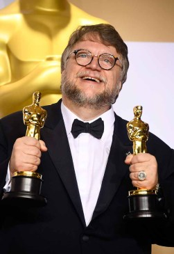 HOLLYWOOD, CA - MARCH 04: Filmmaker Guillermo del Toro, winner of the Best Director and Best Picture awards for 'The Shape of Water,' poses in the press room during the 90th Annual Academy Awards at Hollywood & Highland Center on March 4, 2018 in Hollywood, California. (Photo by Frazer Harrison/Getty Images)