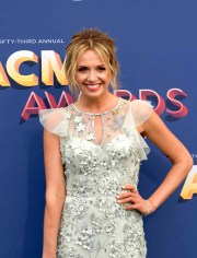 The 53rd Academy of Country Music Awards red carpet is held at the MGM Grand Garden Arena on the Las Vegas Strip. Here singer/songwriter and nominee for New Female Vocalist of the Year Carley Pearce walks the ACM red carpet. Sunday, April 15, 2018. CREDIT: Glenn Pinkerton/Las Vegas News Bureau